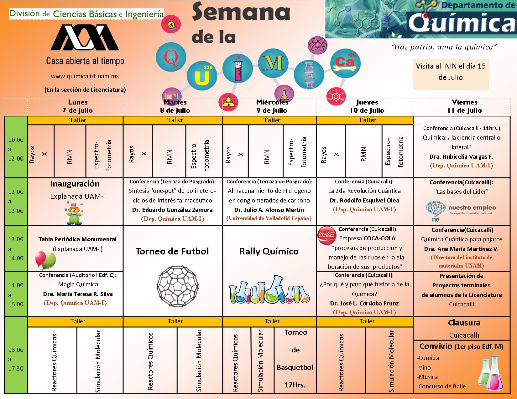 horario SQ-XII